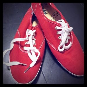 Keds Oxford Canvas Red Sneakers